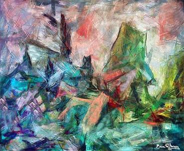 abstract paintings ben rotman painter ציורי שמן בן רוטמן צייר