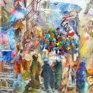 שוק עם ריחות וצבעים ובלגן צבעוני