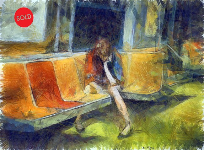 ממתינה,,,,,,,,,וממתינה בתחנת האוטובוס, אהבתי, ציירתי