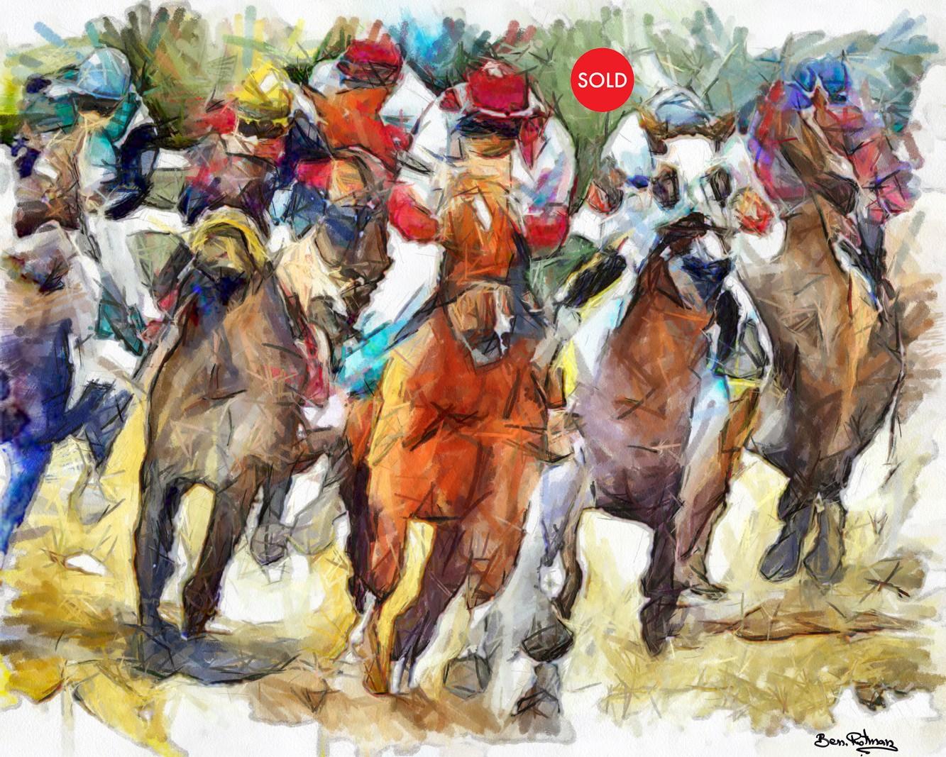סוסים דוהרים בתחרות