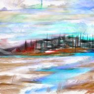 בחוף הים בתל אביב ישנו מזח , שחיתי לשם ויש שם שקט ,צילמתי וציירתי