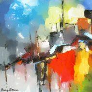 tel aviv in abstract