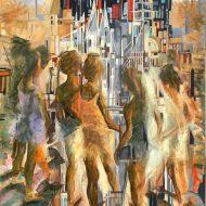 הבנות המתלבטות, ציור של בן רוטמן,
