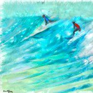 על הגובה, ציור שמן של בן רוטמן, ספורט