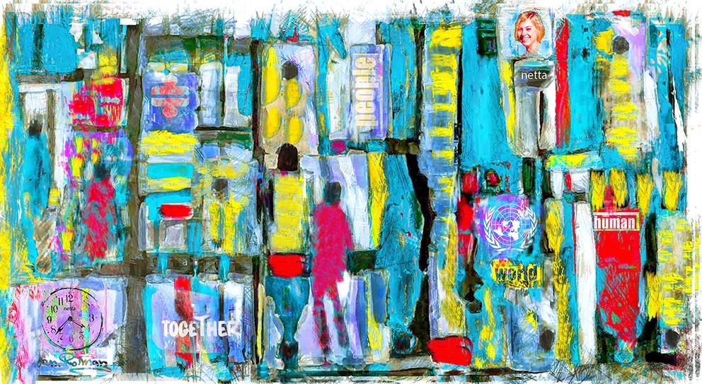 """ציור שמן שציירתי לזכרה של נטה בתנו שנהרגה ע""""י מנוף בתאריך: 18.02.2018 בשעה:16:38"""