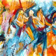 צבעי שמן, ציור, מקורי אנשים, דמויות, ממהרים
