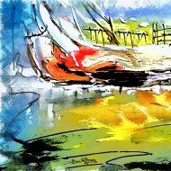 תיבת נוח , ציור אבסטרקטי