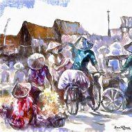 שוק על גבי אופניים בסין B